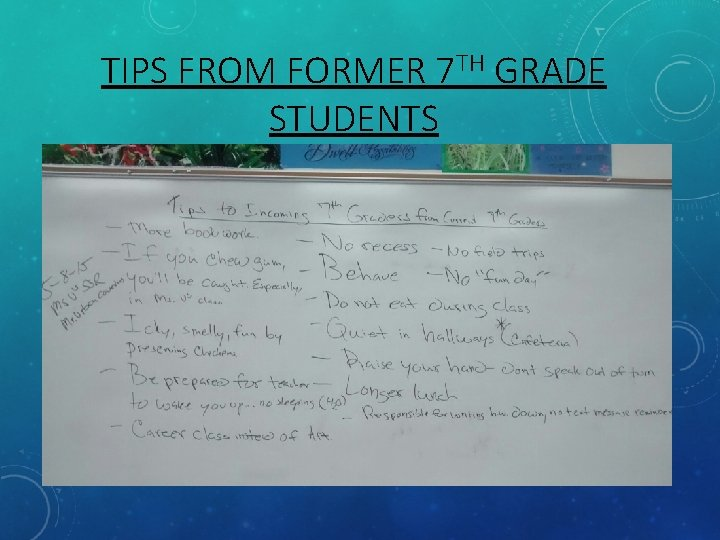 Tips for seventh grade