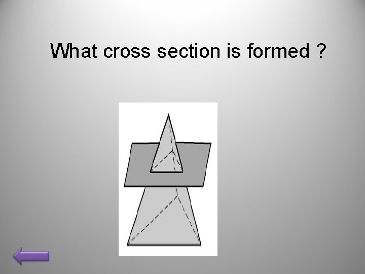 What cross section is formed ?
