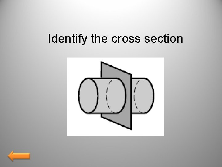 Identify the cross section