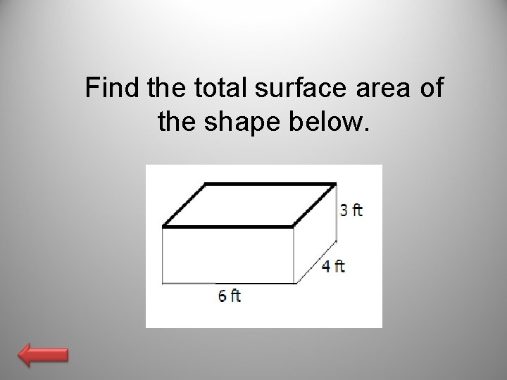 Find the total surface area of the shape below.