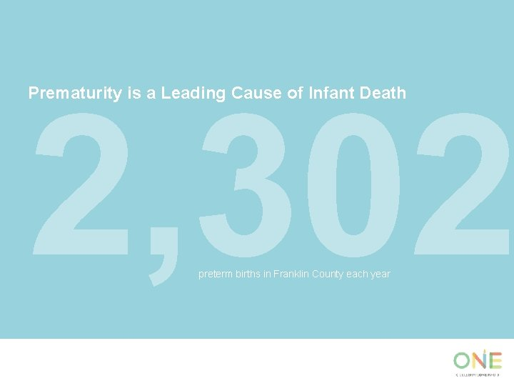 2, 302 Prematurity is a Leading Cause of Infant Death preterm births in Franklin