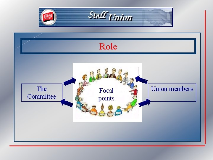 Role The Committee Focal points Union members