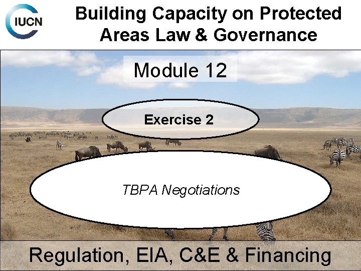 Building Capacity on Protected Areas Law & Governance Module 12 Exercise 2 TBPA Negotiations