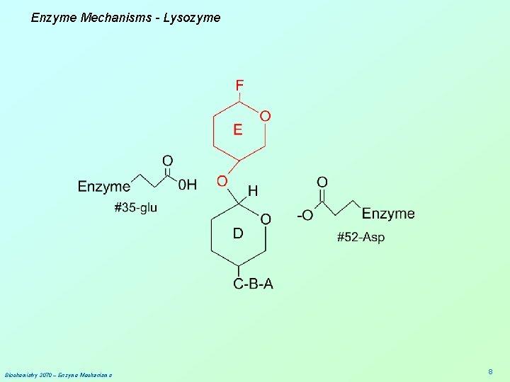 Enzyme Mechanisms - Lysozyme Biochemistry 3070 – Enzyme Mechanisms 8