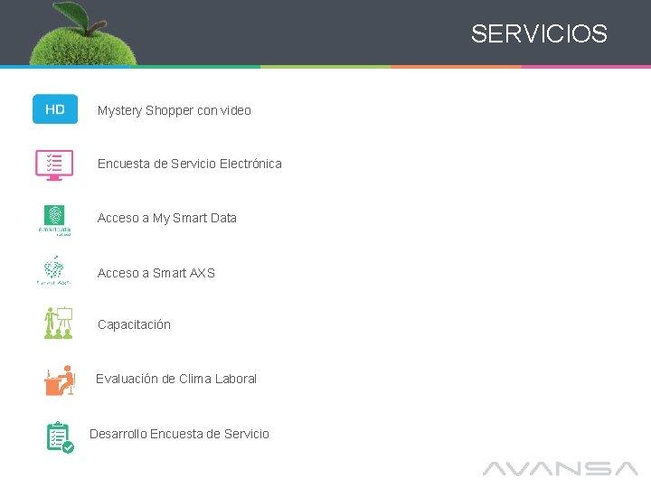 SERVICIOS Mystery Shopper con video Encuesta de Servicio Electrónica Acceso a My Smart Data