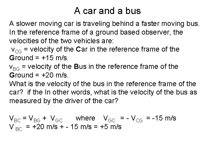 A car and a bus A slower moving car is traveling behind a faster