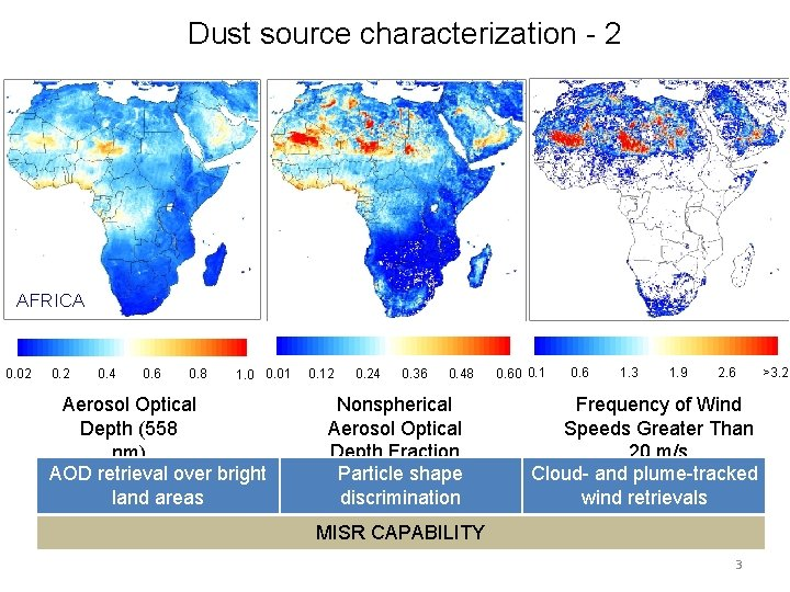 Dust source characterization - 2 AFRICA 0. 02 0. 4 0. 6 0. 8