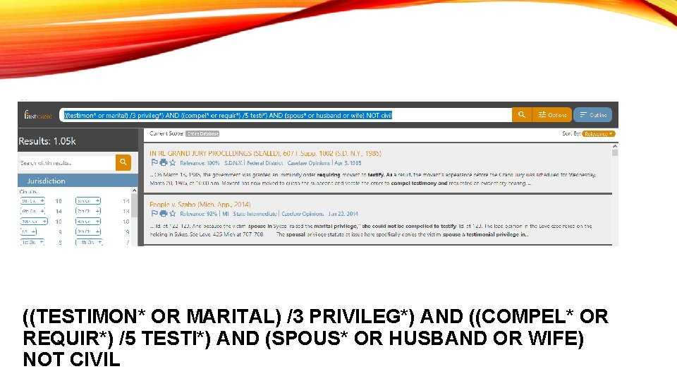 ((TESTIMON* OR MARITAL) /3 PRIVILEG*) AND ((COMPEL* OR REQUIR*) /5 TESTI*) AND (SPOUS* OR