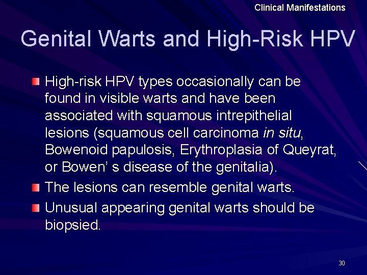 Hpv genital wart cancer, Hpv high risk genital warts