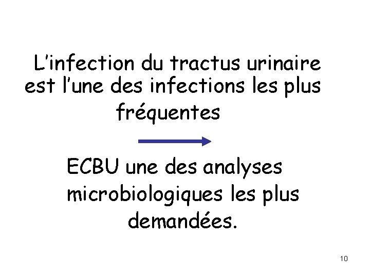L'infection du tractus urinaire est l'une des infections les plus fréquentes ECBU une