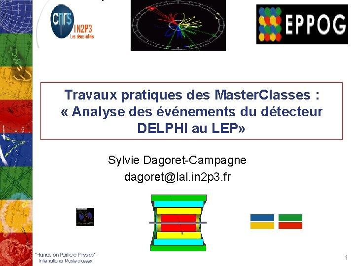 Travaux pratiques des Master. Classes : « Analyse des événements du détecteur DELPHI au