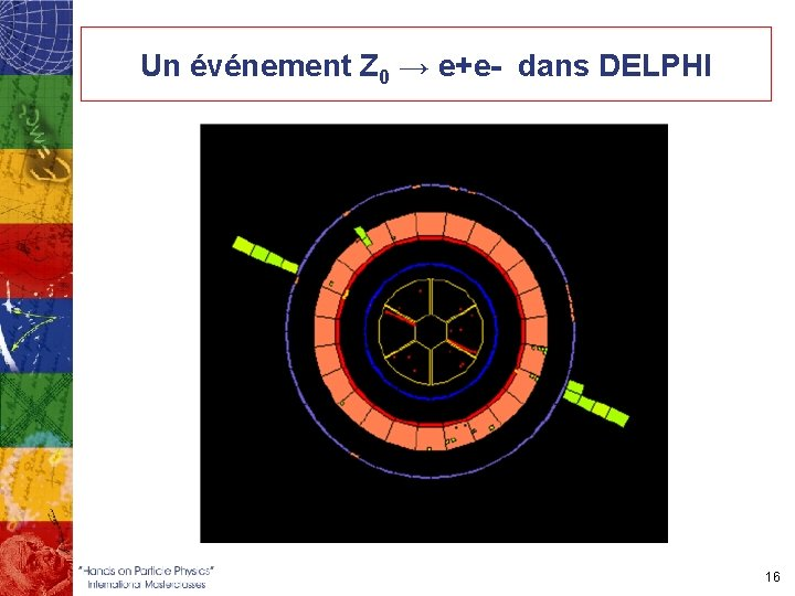 Un événement Z 0 → e+e- dans DELPHI 16