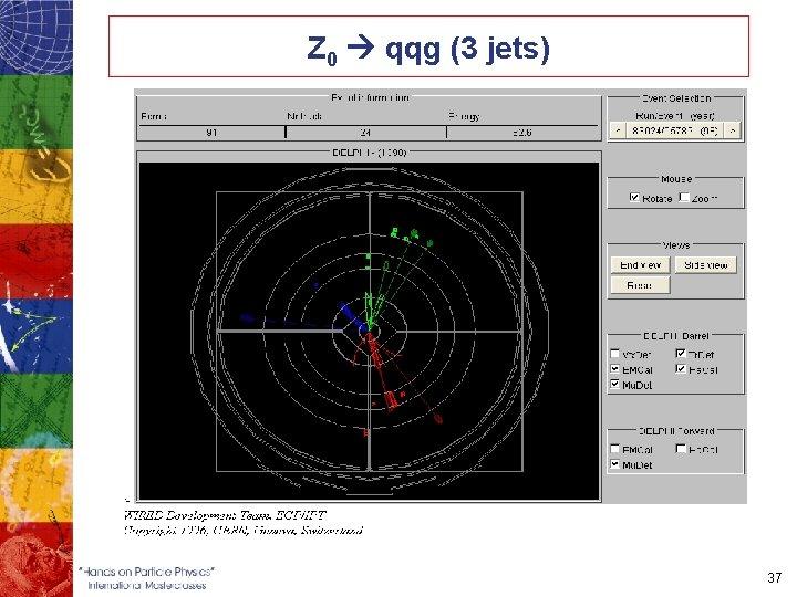 Z 0 qqg (3 jets) 37