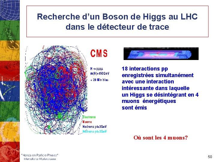 Recherche d'un Boson de Higgs au LHC dans le détecteur de trace 18 interactions