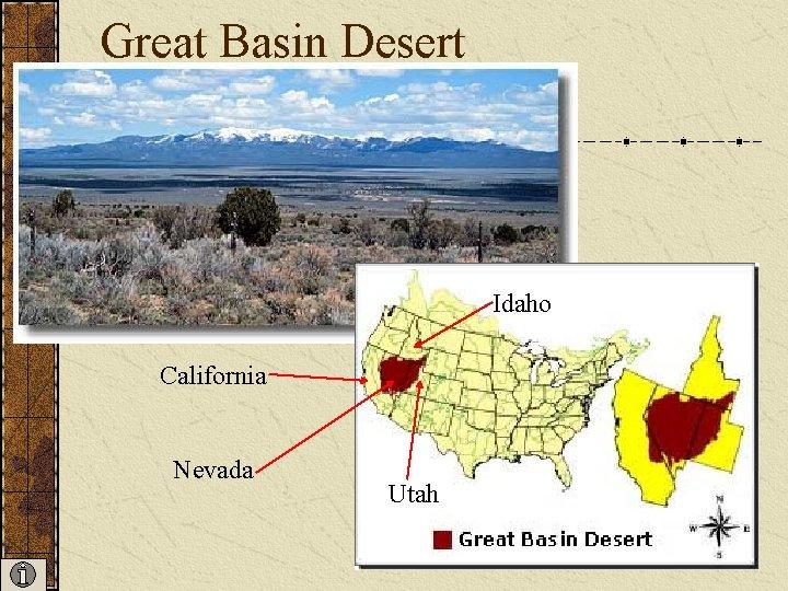 Great Basin Desert Idaho California Nevada Utah