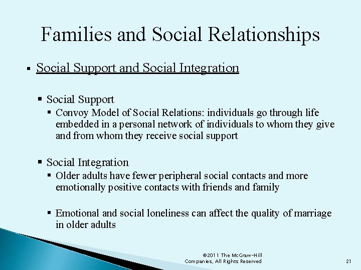 Families and Social Relationships § Social Support and Social Integration § Social Support §