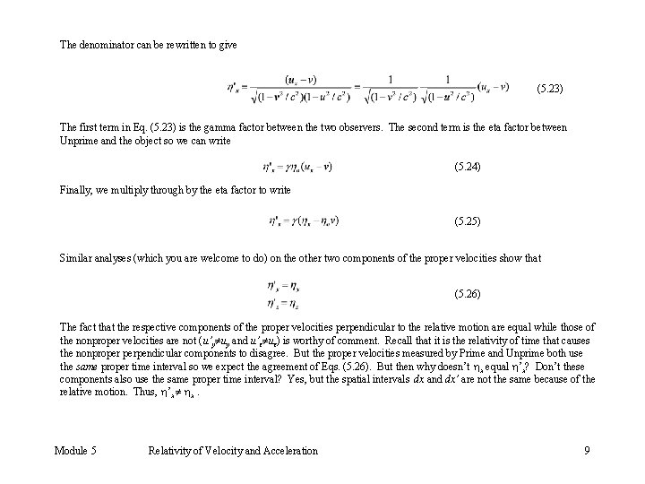The denominator can be rewritten to give (5. 23) The first term in Eq.