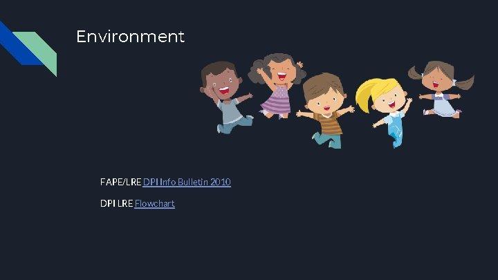 Environment FAPE/LRE DPI Info Bulletin 2010 DPI LRE Flowchart
