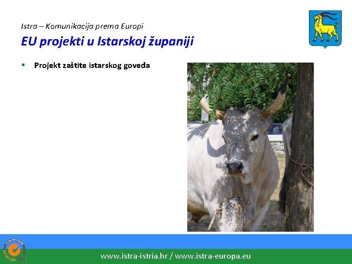 Istra – Komunikacija prema Europi EU projekti u Istarskoj županiji § Projekt zaštite istarskog