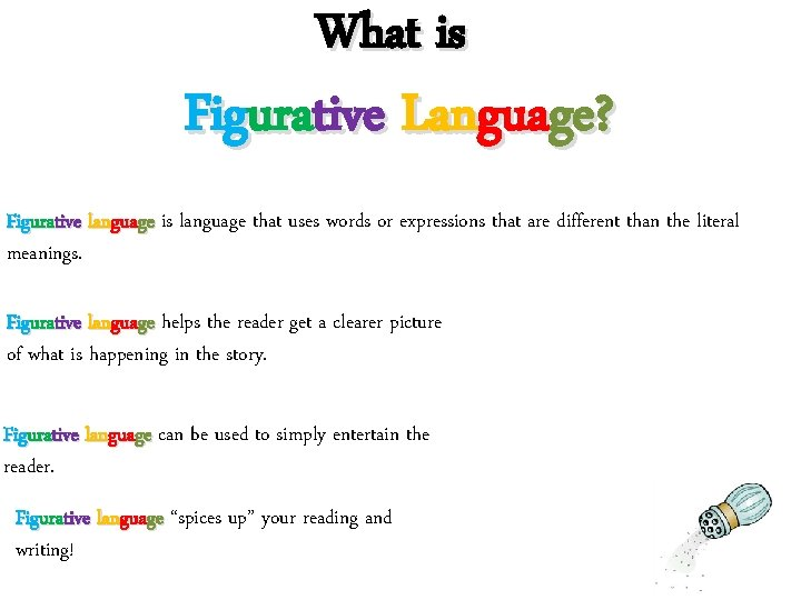 What is Figurative Language? Figurative language is language that uses words or expressions that