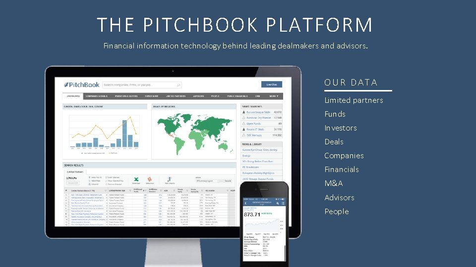 THE PITCHBOOK PLATFORM Financial information technology behind leading dealmakers and advisors. OUR DATA Limited