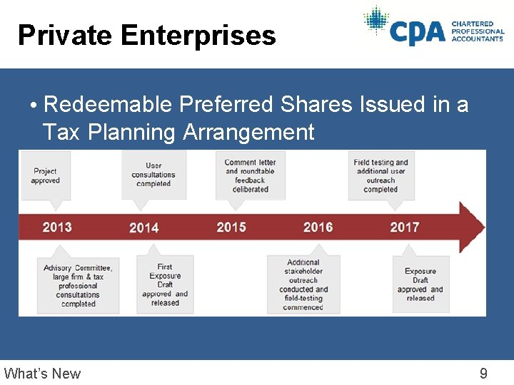 Private Enterprises • Redeemable Preferred Shares Issued in a Tax Planning Arrangement What's New