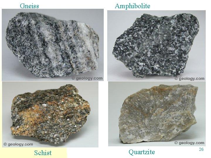Gneiss Schist Amphibolite Quartzite 26