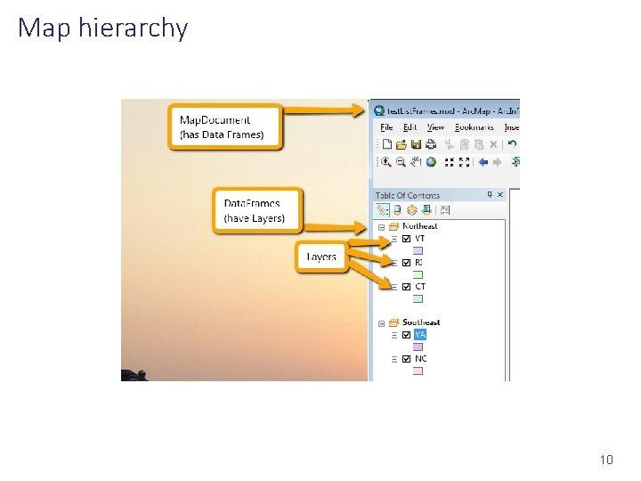 Map hierarchy 10