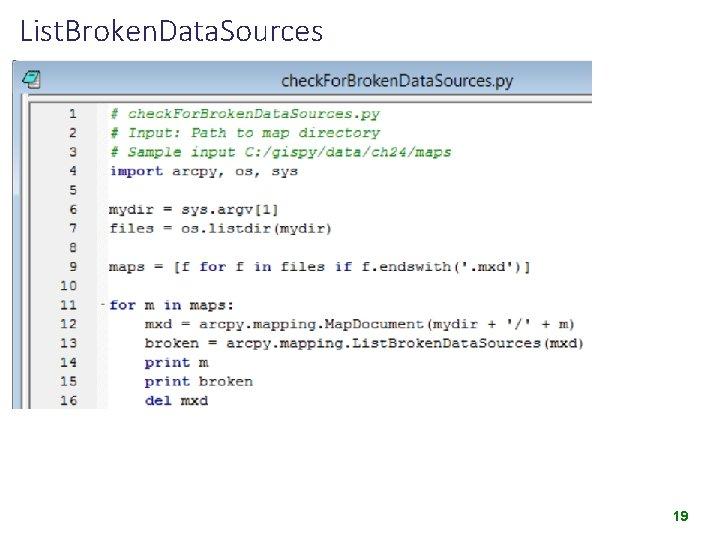 List. Broken. Data. Sources 19