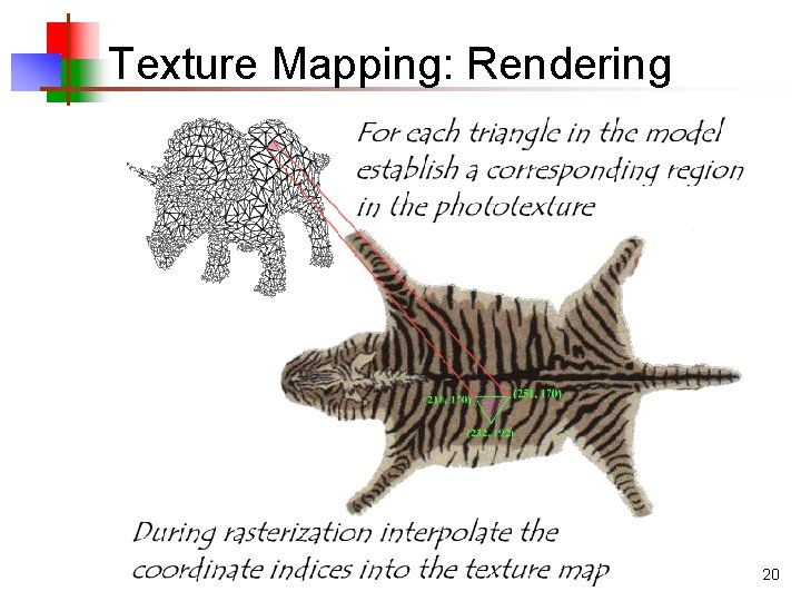 Texture Mapping: Rendering 20
