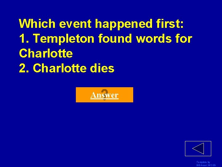 Which event happened first: 1. Templeton found words for Charlotte 2. Charlotte dies Answer