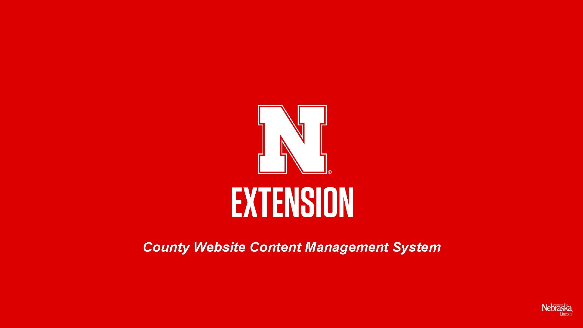 County Website Content Management System
