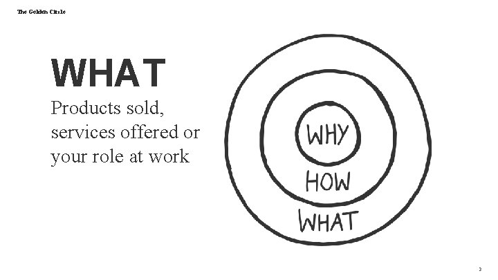 The Golden Circle WHAT Products sold, services offered or your role at work 3