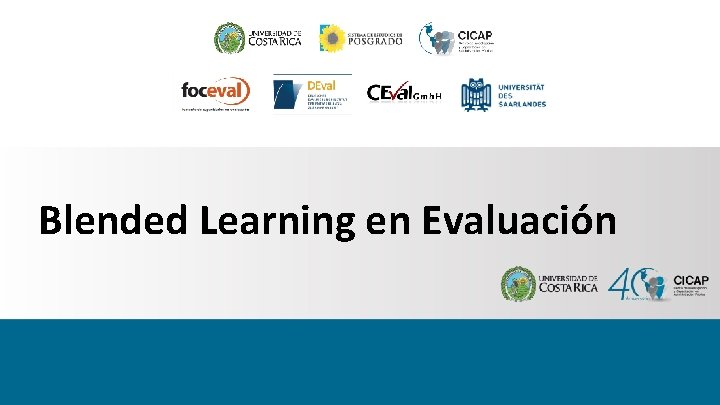 Blended Learning en Evaluación