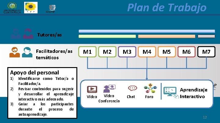 Plan de Trabajo Tutores/as Facilitadores/as temáticos M 1 M 2 M 3 M 4