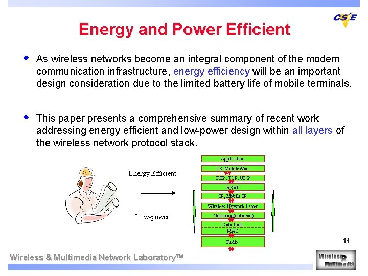 Energy and Power Efficient w As wireless networks become an integral component of the