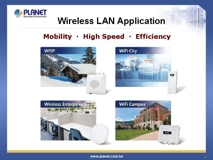Wireless LAN Application Mobility High Speed Efficiency 2