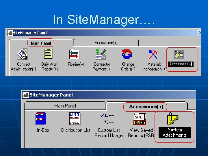 In Site. Manager….