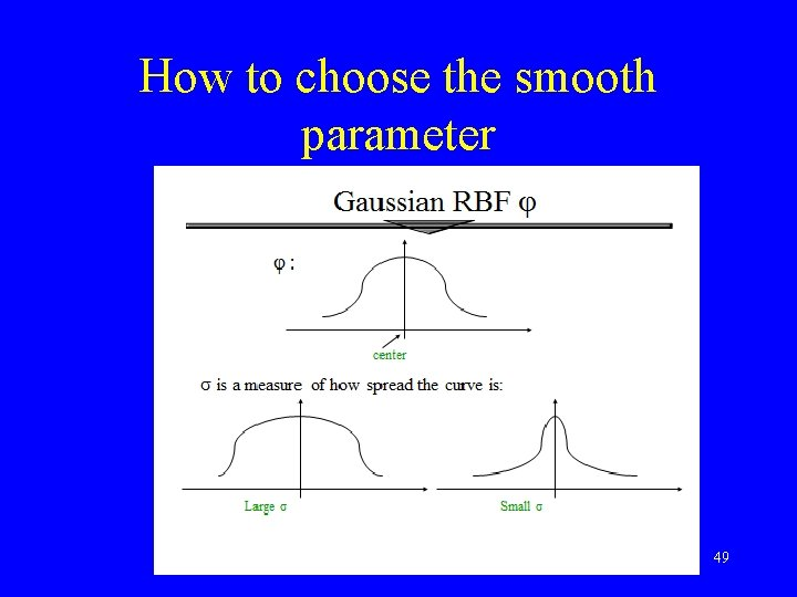 How to choose the smooth parameter 49