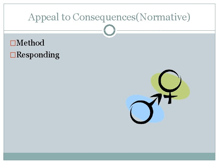 Appeal to Consequences(Normative) �Method �Responding