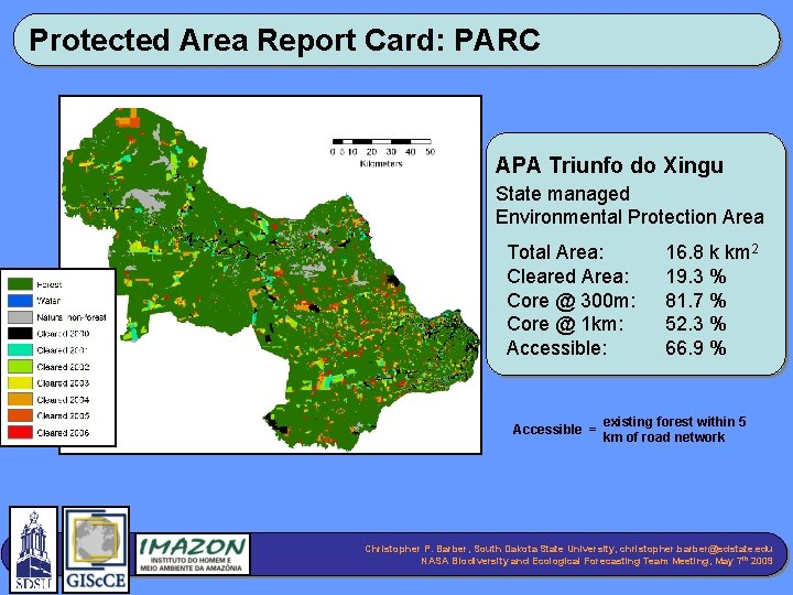Protected Area Report Card: PARC APA Triunfo do Xingu State managed Environmental Protection Area
