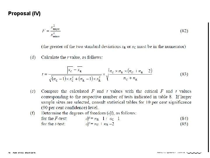 Proposal (IV) 10 Audi, EA-52, March 2015