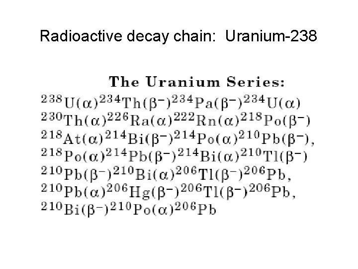 Decay series 238 uranium Uranium Thorium
