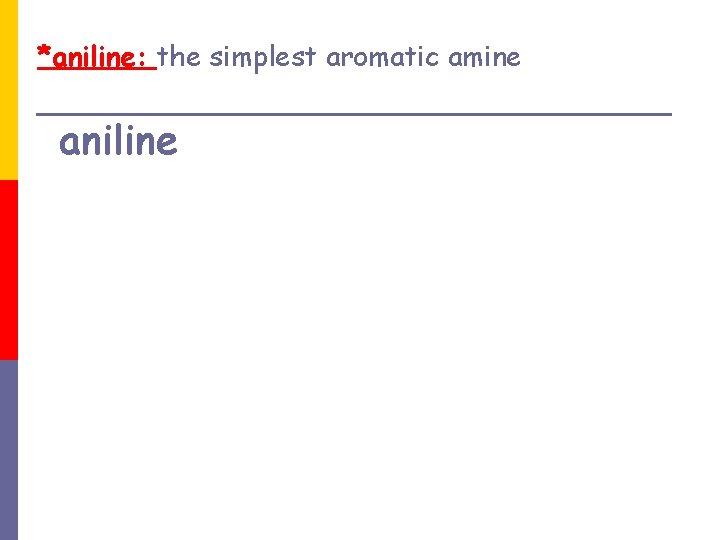 *aniline: the simplest aromatic amine aniline
