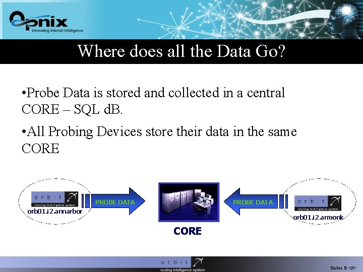 Where does all the Data Go? • Probe Data is stored and collected in