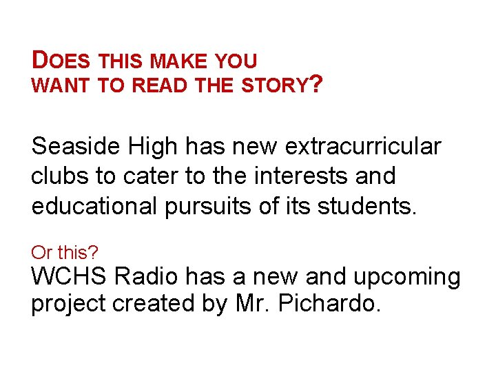DOES THIS MAKE YOU WANT TO READ THE STORY? Seaside High has new extracurricular