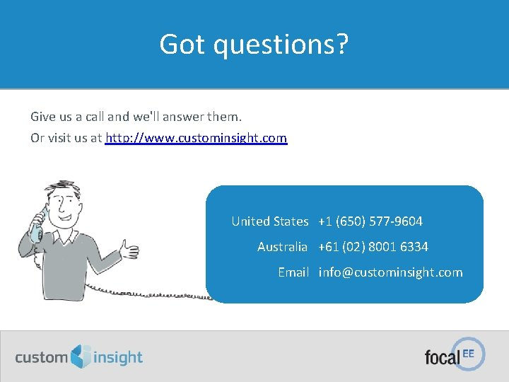 Got questions? Give us a call and we'll answer them. Or visit us at