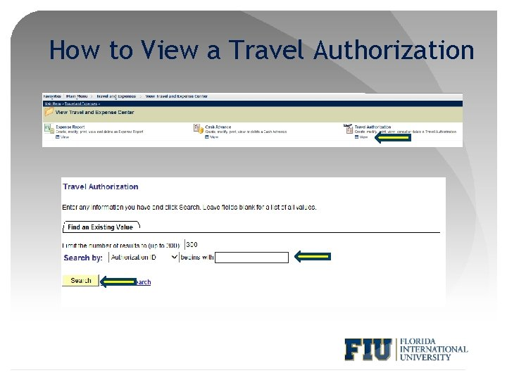 How to View a Travel Authorization