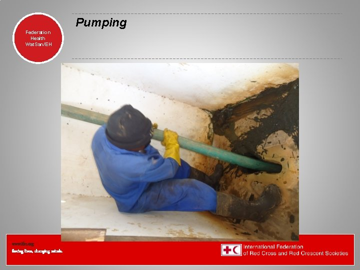 Pumping Federation Health Wat. San/EH www. ifrc. org Saving lives, changing minds.