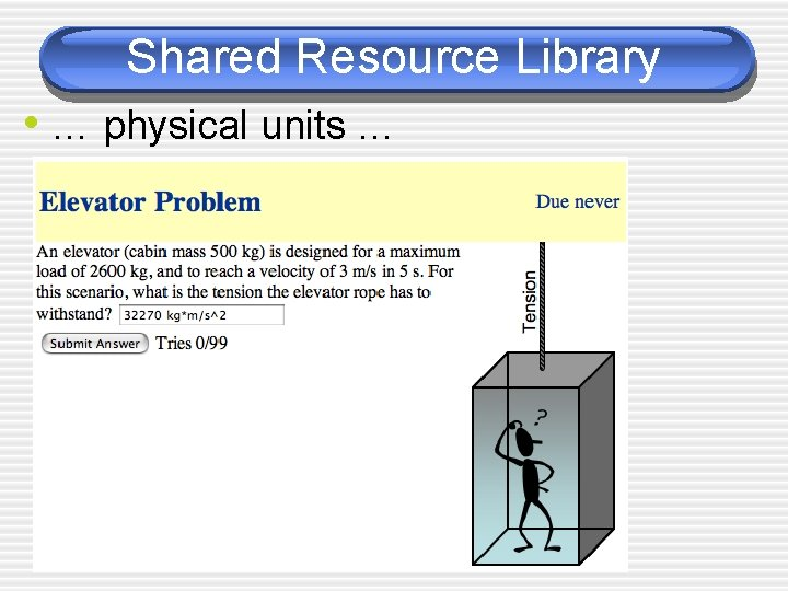 Shared Resource Library • … physical units …